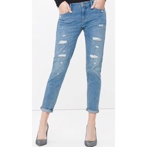 WHBM THE GIRLFRIEND chain distressed jeans 8